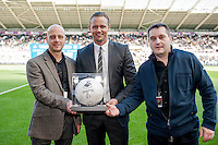 Saturday 4th  October 2014 Pictured: Match Ball Sponsors <br /> Re: Barclays Premier League Swansea City v Newcastle United at the Liberty Stadium, Swansea, Wales,UK