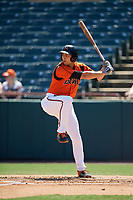 Bowie Baysox Ryan Ripken (22) bats during an Eastern League game against the Binghamton Rumble Ponies on August 21, 2019 at Prince George's Stadium in Bowie, Maryland.  Bowie defeated Binghamton 7-6 in ten innings.  (Mike Janes/Four Seam Images)