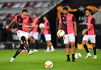 21st August 2020, Rheinenergiestadion, Cologne, Germany; Europa League Cup final Sevilla versus Inter Milan;  Lucas Ocampos of Sevilla  warms up prior to the UEFA Europa League Final between Seville and FC Internazionale at RheinEnergieStadion on August 21, 2020 in Cologne, Germany.
