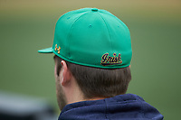 A view of the back of a Notre Dame Fighting Irish Under Armour cap during the game against the Wake Forest Demon Deacons at David F. Couch Ballpark on March 10, 2019 in  Winston-Salem, North Carolina. The Demon Deacons defeated the Fighting Irish 7-4 in game one of a double-header.  (Brian Westerholt/Four Seam Images)