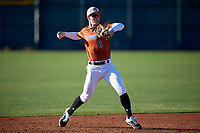 Ryan Targac during the Under Armour All-America Pre-Season Tournament, powered by Baseball Factory, on January 19, 2019 at Sloan Park in Mesa, Arizona.  Ryan Targac is a shortstop from Hallettsville, Texas who attends Hallettsville ISD and is committed to Texas A&M.  (Mike Janes/Four Seam Images)