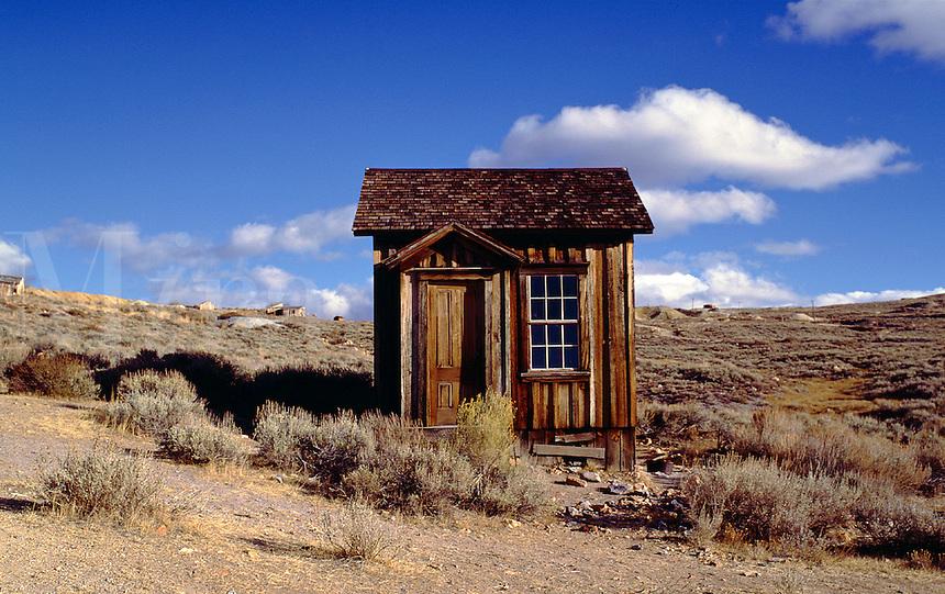 Ghost town cabin, Bodie, California. Bodie, California.