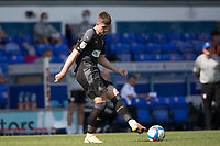 Adam Long, Wigan Athletic,  plays the ball across the back line during Ipswich Town vs Wigan Athletic, Sky Bet EFL League 1 Football at Portman Road on 13th September 2020