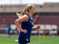 HOUSTON, TX - JUNE 12: Lindsey Horan #9 of the USWNT warms up during a training session at University of Houston on June 12, 2021 in Houston, Texas.
