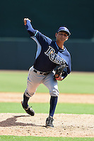Tampa Bay Rays pitcher Henry Centeno (8) during an Instructional League game against the Baltimore Orioles on September 15, 2014 at Ed Smith Stadium in Sarasota, Florida.  (Mike Janes/Four Seam Images)