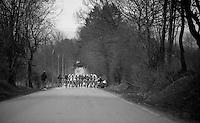 Liège-Bastogne-Liège 2013..peloton decided to let the escape group go
