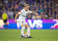 Orlando, FL - Saturday March 24, 2018: Utah Royals Gunnhildur Jonsdottir (23) during a regular season National Women's Soccer League (NWSL) match between the Orlando Pride and the Utah Royals FC at Orlando City Stadium. The game ended in a 1-1 draw.