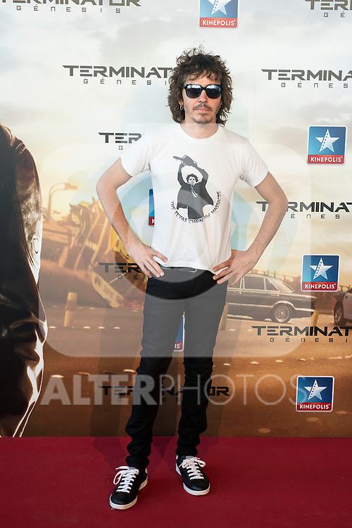 Singer Rubén Pozo attends to the premiere of Terminator Genesis at Kinepolis Cinema in Madrid, Spain. July 08, 2015.<br />  (ALTERPHOTOS/BorjaB.Hojas)
