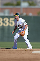 Oakland Athletics infielder Daniel Robertson (10) during an Instructional League game against the Chicago Cubs on October 16, 2013 at Papago Park Baseball Complex in Phoenix, Arizona.  (Mike Janes/Four Seam Images)