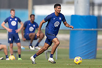 BRADENTON, FL - JANUARY 23: Miles Robinson moves with the ball during a training session at IMG Academy on January 23, 2021 in Bradenton, Florida.