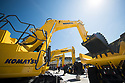 28/06/18<br /> <br /> Komatsu stand at Hillhead 2018 -  the show that showcases the latest in heavy plant and and quarrying equipment near Buxton, Derbyshire.<br /> <br /> <br /> All Rights Reserved: F Stop Press Ltd. +44(0)1335 344240  www.fstoppress.com www.rkpphotography.co.uk