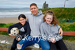 Enjoying a stroll in Ballybunion on Saturday, l to r: Isabelle, Adrian and Lexie Royle.