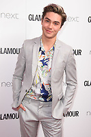 George Shelley<br /> arrives for the Glamour Women of the Year Awards 2016, Berkley Square, London.<br /> <br /> <br /> ©Ash Knotek  D3130  07/06/2016