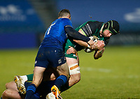 2nd January 2021; RDS Arena, Dublin, Leinster, Ireland; Guinness Pro 14 Rugby, Leinster versus Connacht; Eoghan Masterson of Connacht is tackled by Dave Kearney and Liam Turner of Leinster