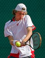 18-08-10, Tennis, Amstelveen, NTK, Nationale Tennis Kampioenschappen, Jannick Lupesvu afgelopen weekeinde winnaar bij de junioren tot 18 jaar in actie in de eerste ronde