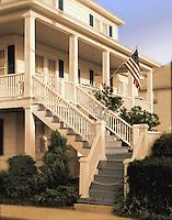 Beach House with American Flag Ocean City Maryland