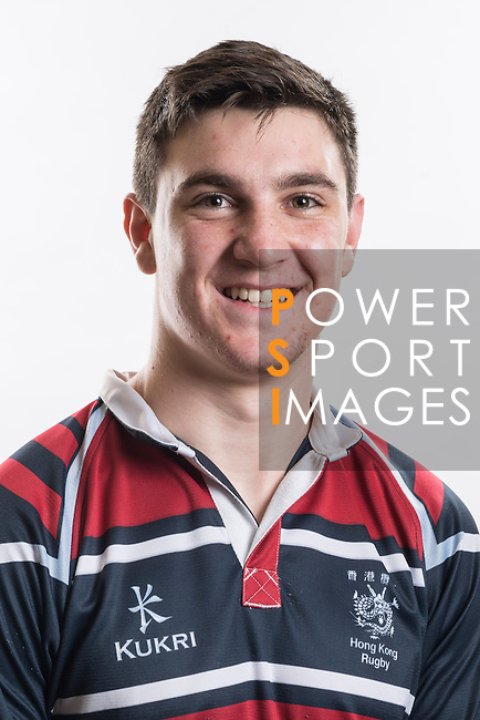 Hong Kong Junior Squad team member Rupert Phillips poses during the Official Photo Session Day at King's Park Sports Ground ahead the Junior World Rugby Tournament on 25 March 2014. Photo by Andy Jones / Power Sport Images