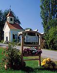 Austria, Styria, pumpkin-seed oil (sign), chapel