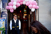 Entrance to a party for rent facility.Just 25 years ago it was a small group of houses around La Paz  airport, at an altitude of 12,000 feet. Now El Alto city  has  nearly one million people, surpassing even the capital of Bolivia, and it is the city of Latin America that grew faster .<br /> It is also a paradigmatic city of the troubles  and traumas of the country. There got refugee thousands of miners that lost  their jobs in 90 ´s after the privatization and closure of many mines. The peasants expelled by the lack of land or low prices for their production. Also many who did not want to live in regions where coca  growers and the Army  faced with violence.<br /> In short, anyone who did not have anything at all and was looking for a place to survive ended up in El Alto.<br /> Today is an amazing city. Not only for its size. Also by showing how its inhabitants,the poorest of the poor in one of the poorest countries in Latin America, managed to get into society, to get some economic development, to replace their firs  cardboard houses with  new ones made with bricks ,  to trace its streets,  to raise their clubs, churches and schools for their children.<br /> Better or worse, some have managed to become a sort of middle class, a section of the society that sociologists call  emerging sectors. Many, maybe  most of them, remain for statistics as  poor. But clearly  all of them have the feeling they got  for their children a better life than the one they had to face themselves .