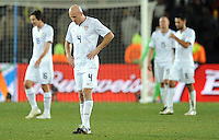 Dejected USA players. Brazil defeated USA 3-2 in the FIFA Confederations Cup Final at Ellis Park Stadium in Johannesburg, South Africa on June 28, 2009.