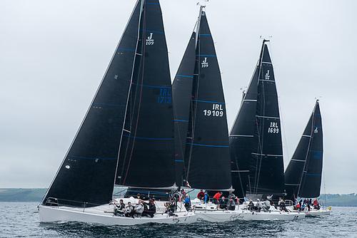 Close combat - J109s make up ten of the 14 boat IRC of fleet at the 2021 Sovereign's Cup  Photo: Bob Bateman