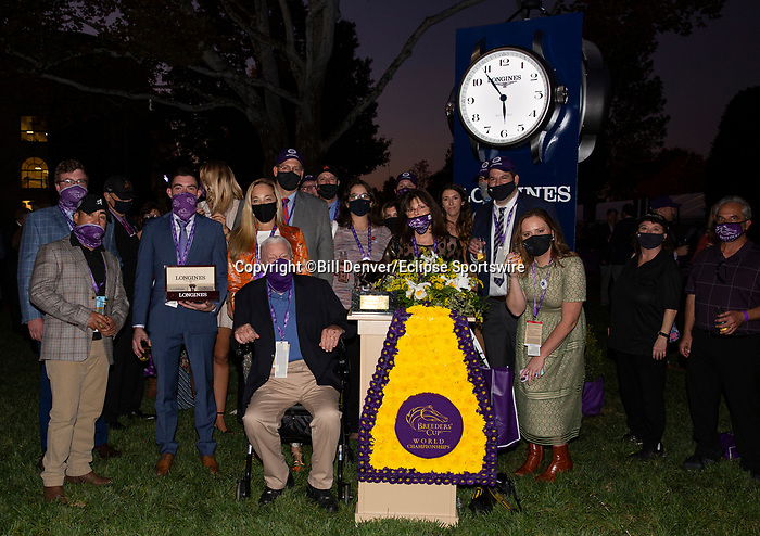 November 7, 2020 : Connections to Authentic at Champion's Terrace after the Longines Breeders' Cup Classic on Breeders' Cup Championship Saturday at Keeneland Race Course in Lexington, Kentucky on November 7, 2020. Bill Denver/Eclipse Sportswire/Breeders' Cup/CSM