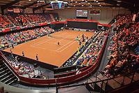 Netherlands, Den Bosch, April 18 2015 Maaspoort, Fedcup Netherlands-Australia,  Overall vieuw<br /> Photo: Tennisimages/Henk Koster