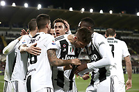 Calcio, Serie A: Fiorentina - Juventus, stadio Artemio Franchi Firenze 1 dicembre 2018.<br /> Juventus' Rodrigo Bentancurcelebrates after scoring with his teammates during the Italian Serie A football match between Fiorentina and Juventus at Florence's Artemio Franchi stadium, December 1, 2018.<br /> UPDATE IMAGES PRESS/Isabella Bonotto
