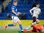 St Johnstone v Hearts…30.10.19   McDiarmid Park   SPFL<br />Ali McCann is denied by Joel Pereira<br />Picture by Graeme Hart.<br />Copyright Perthshire Picture Agency<br />Tel: 01738 623350  Mobile: 07990 594431
