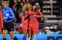 COLUMBUS, OH - NOVEMBER 07: Christen Press #23 of the United States celebrates her goal during a game between Sweden and USWNT at MAPFRE Stadium on November 07, 2019 in Columbus, Ohio.