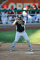 Cole Anderson (24) of the Grand Junction Rockies at bat against the Orem Owlz in Pioneer League action at Home of the Owlz on July 6, 2016 in Orem, Utah. The Owlz defeated the Rockies 9-1 in Game 1 of the double header.  (Stephen Smith/Four Seam Images)