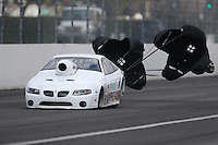 Feb 11, 2017; Pomona, CA, USA; NHRA top sportsman driver Jeff Gillette during the Winternationals at Auto Club Raceway at Pomona. Mandatory Credit: Mark J. Rebilas-USA TODAY Sports