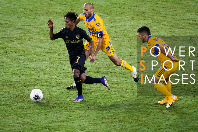 Latif Blessing of Los Angeles FC (USA) in action against Tigres UANL (MEX) during their CONCACAF Champions League Final match at the Orlando's Exploria Stadium on 22 December 2020, in Florida, USA. Photo by Victor Fraile / Power Sport Images
