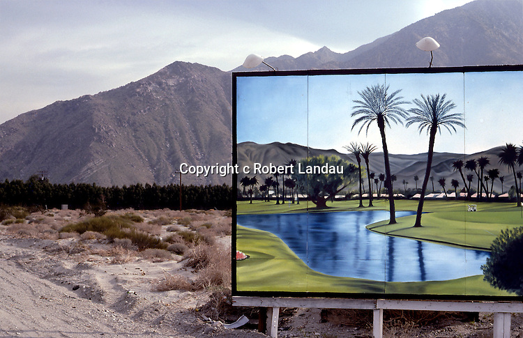 Billboard in Desert, Palm Springs,  1979