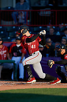 Altoona Curve Jared Oliva (41) at bat during an Eastern League game against the Erie SeaWolves on June 3, 2019 at UPMC Park in Erie, Pennsylvania.  Altoona defeated Erie 9-8.  (Mike Janes/Four Seam Images)