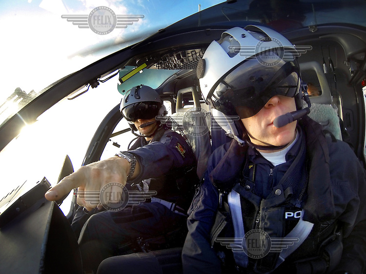 Norwegian Police Helicopter with pilots Gunnar Arnekleiv (front) and Stian Ødegaard.