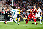 Real Madrid Marcelo and Bayern Munich Sven Ulreich during Semi Finals UEFA Champions League match between Real Madrid and Bayern Munich at Santiago Bernabeu Stadium in Madrid, Spain. May 01, 2018. (ALTERPHOTOS/Borja B.Hojas)