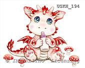 Kayomi, CUTE ANIMALS, paintings, DragonMushroom_M, USKH194,#AC# stickers illustrations, pinturas ,everyday