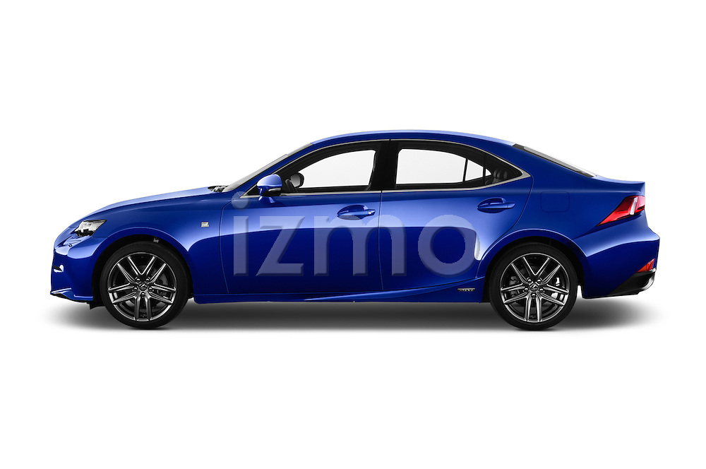 Car Driver side profile view of a 2015 Lexus IS F SPORT LINE 4 Door Sedan Side View