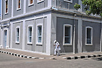 An old man on a street in Pondicherry. Arindam Mukherjee