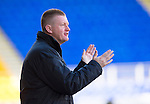 St Johnstone v Ross County.....21.04.13      SPL.Steve Lomas applauds.Picture by Graeme Hart..Copyright Perthshire Picture Agency.Tel: 01738 623350  Mobile: 07990 594431