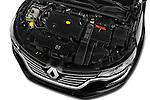 Car Stock 2016 Renault Talisman Intens 4 Door Sedan Engine  high angle detail view