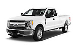 2017 Ford F-250 XLT-SuperCab 4 Door Pickup Angular Front stock photos of front three quarter view