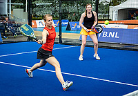 Rosmalen, Netherlands, 15 June, 2019, Tennis, Libema Open, NK Padel, Final womans doubles Milou Ettekoven (L) and Marcella Koek<br /> Photo: Henk Koster/tennisimages.com
