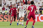 Ismail Ahmed Mohamed of United Arab Emirates (C) in action during the AFC Asian Cup UAE 2019 Semi Finals match between Qatar (QAT) and United Arab Emirates (UAE) at Mohammed Bin Zaied Stadium  on 29 January 2019 in Abu Dhabi, United Arab Emirates. Photo by Marcio Rodrigo Machado / Power Sport Images