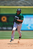 Daytona Tortugas first baseman Avain Rachal (23) rounds the bases after hitting a home run during a game against the Clearwater Threshers on April 20, 2016 at Bright House Field in Clearwater, Florida.  Clearwater defeated Daytona 4-2.  (Mike Janes/Four Seam Images)