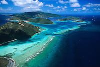 Eustatia Sound aerial<br /> Virgin Gorda.<br /> British Virgin Islands
