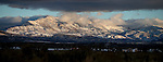 Fresh snow covers the Pine Nut Mountains as seen from Minden, Nev., on Thursday, Dec. 19, 2013. <br /> Photo by Cathleen Allison