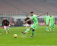 Milano  23-12-2020<br /> Stadio Giuseppe Meazza<br /> Campionato Serie A Tim 2020/21<br /> Milan Lazio<br /> nella foto:  Immobile fallisce il penalty                                                       <br /> Antonio Saia