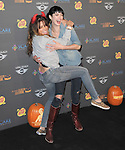 Krysten Ritter and Sarah Shahi  at 3rd Annual Los Angeles Haunted Hayride held at Griffith Park, Old Zoo in Los Angeles, California on October 09,2011                                                                               © 2011 Hollywood Press Agency